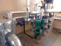 ИТП с зависимым присоединением к теплосети (без теплообменника)